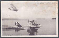 IDROVOLANTE 05 LAGO di VARESE Seaplane AERONAUTICA AVIAZIONE Cartolina