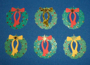 10 Christmas Wreaths Toppers (Quickutz) Embellishments
