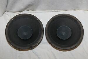 Vintage Philips AD9710/M8 21cm full range loudspeakers pair