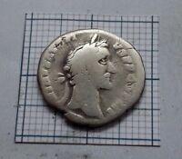 ROMAN imp. ANTONINUS PIUS 138-161 A.D Original Antique Coin SILVER DENARIUS #087