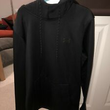 Under Armour Rival Mens Fleece Hoody Black Stylish Gym Training Workout Hoodie M