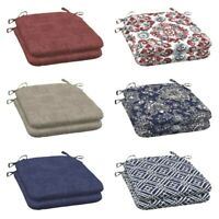 Outdoor Dining Patio Seat Cushions Set Pad UV & Fade Resistant Furniture 2-Piece
