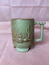 Frankoma Roadrunner Coffee Cup Mug C1 Prairie Green Pottery