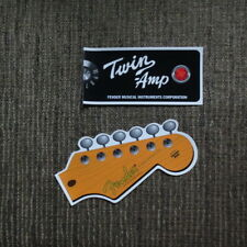 Fender straocaster electric vintage Twin Amp and guitar head stickers decals