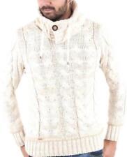 Herren-Pullover & -Strickware mit Norweger-Muster und Knöpfen in Größe XL