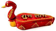 indian Peacock Tilak Chopra,kumkum box Wooden handcrafted for deepawali pooja