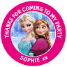 48 personalised Frozen Party Bag Stickers 40mm Sweet Bag Cone Labels