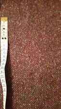 Tela de tweed Borgoña 1 YD (approx. 0.91 m) X 150 CM, 100% lana de la Isla De Man Manx