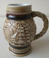 Avon Stein Boats Sails Vintage 1982 Ceramics Small Tankard Nautical Collectable