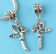 2pcs Tibetan silver angel Charm bead fit European Bracelet Pendant #V163