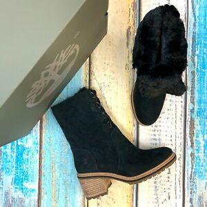 Timberland Women's Waterproof Mid Black Suede Boots MSRP $180