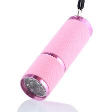 Mini UV Ultra Violet 9 LED Flashlight Waterproof Torch Light Lamp Aluminum Laser