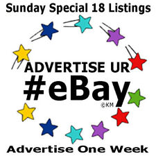 Sunday Special ONE WEEK Promote 18 eBay Listings Pinterest Marketing Advertising