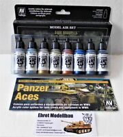 Farbset Metallic Effekt  Airbrush Color Set 8 Farben Vallejo Model Air 71176 Neu