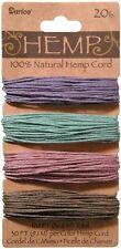 Hemp Cord 20lb Wt 120 feet 100% Natural 4 Vintage Colors Green Purple Pink Taupe