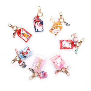 1X Omamori Maneki Neko Dispel Misfortune Lucky Key Holder Keyring Keychain G.bu