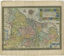 Antique Map of the Netherlands by Guicciardini (1612)