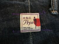PRPS Blue Indigo Zimbabwe Cotton Denim Distressed Utility Workers Jeans 34 Japan