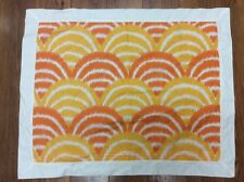 SHAM ORANGE AND GOLDEN YELLOW 1 STANDARD STRIPE GEOMETRIC  WHITE BORDER NICE!