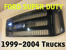 Ford High Gloss BLACK Grille CONVERSION Fits 1999-2004  F250 F350 F450 F550