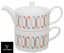 Price & Kensington Tea Pot For One Set Geometric Tea For One