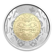 2020 Canada $2 Haida Art Bill Reids Birth BU Non Coloured Toonie Coin From Roll
