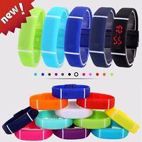 GX- Unisex Kids LED Watch Silicon Waterproof Watch Sport Digital Wristwatches Ho