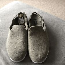 Clarks Mens Tri-Genic Slippers Shoes Lounge Light Grey Mules Size 11