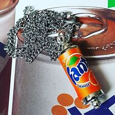 COOL FANTA può Collana Novità Soda Bevanda Orange in Miniatura Fatto a Mano Soda Pop