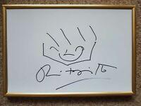 Romero Britto - Zeichnung mit Autogramm