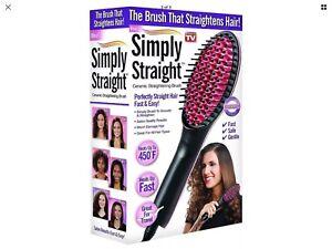 Simply Straight SS-MC4 Ceramic Straightening Hair Brush preowned