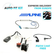 Citroen Fitting Kit Installation + Steering Wheel Adaptor CTSCT003.2 Alpine lead