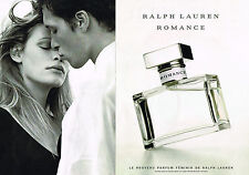 PUBLICITE ADVERTISING 074  1999  RALPH LAUREN  parfum ROMANCE  ( 2 pages)