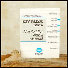 Genuine OEM Minolta Dynax Instruction Manual 500si 35mm Film SLR