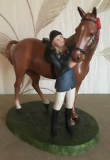 FRANKLIN MINT HORSE PONY & RIDER FIRST PRIZE BRITISH HORSE SOCIETY PORCELAIN VGC