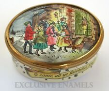 Bilston & Battersea Halcyon Days Enamels Christmas 1975 LE Enamel Box