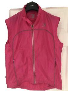 Karrimor Ladies Pink Florescent Running Gilet Size 14