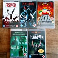 PSP UMD Collection 5 Movies:platoon, hellboy, south park &... FREE P&P