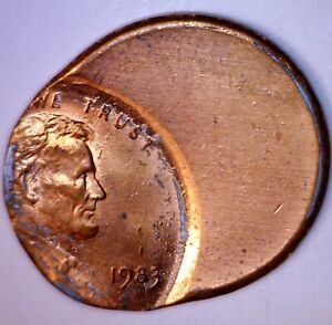 1983 ERROR 50% Off Center Lincoln Cent Coin NICE EARLY BU + RED O/C LOT #1   NR