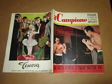 RIVISTA SPORTIVA IL CAMPIONE ANNO 1957 ANNO III° N°12 D'AGATA HALIMI POZZO