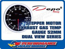 DEPO RACING EXHAUST GAS TEMP STEPPER MOTOR GAUGE 52MM DUAL VIEW, RACE, DRIFT