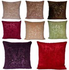 "Velvet Floral Decorative Cushions & Pillows 17x17"" Size"