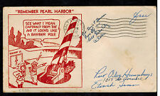 1942 USA Patriotic Cover Apo Free Mail SLC Utah Remember Pearl harbor Cannon