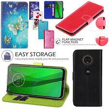 Per Motorola Moto G7 Power PU pelle portafoglio Flip Stand Cover Custodia Magnetica