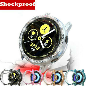 Bling Crystal Screen Protector Watch Cover Skin For Samsung Galaxy Watch Active