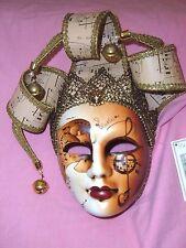 NWT Italian Mask Carnivale Di Venezia musical notes Jester Venexiana Garanzia