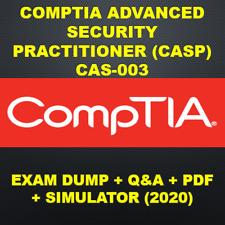 CompTIA Advanced Security Practitioner (CASP) CAS-003 Exam PDF QA&SIMs (2020)