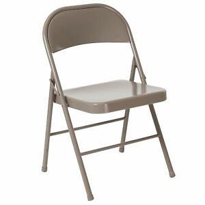 Flash Furniture HERCULES Series Double Braced Gray Metal Folding Chair New