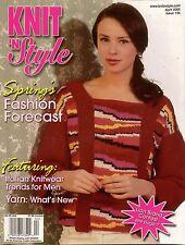 Knit n Style April 2005 Spring Fashions Poncho Felting Machine Knitting Patterns