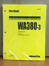 Komatsu WA380-3 Wheel Loader Shop Service Repair Manual (WA380H20051 & up)